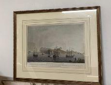 "After Lieutenant G. Rapier 1796- (fl. c.), a hand coloured aquatint depicting ""View of the South"