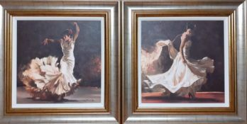 """Mark Spain (b.1962) British, """"Burning Passion I"""" and """"Burning Passion II"""", signed and numbered 16/"""