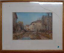 "Arthur Reginald Smith ARA RSW RWS (1871-1934), ""Sunset glow near St. Bertrand"", signed, watercolour,"