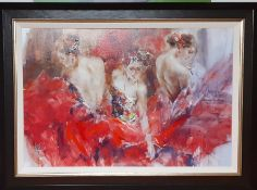 """Anna Razumovskaya (XX-XXI) Russian, """"Past, Present, Future I"""", signed and numbered 12/49, special"""