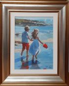 """Sherree Valentine Daines (b.1959) British, """"Seaside days I"""", signed and numbered 190/195, special"""