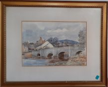 An English watercolour, signed 'Patrick Thomas' and dated 1909, framed and glazed, (17.5x25.5 cm).