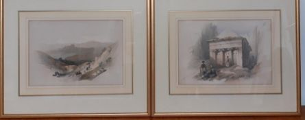 A pair of prints after David Roberts, framed and glazed, (21x29.5 cm).