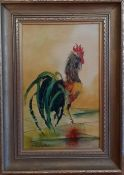 A painting by Nancie Foster, signed and framed, (39x24 cm).