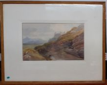 Joseph Needham (1810-1880) British, 'Harlech castle in North Wales', signed and dated 1873 lower