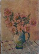 An oil on canvas signed Jean Fearon (?), unframed, (35x25.5 cm).