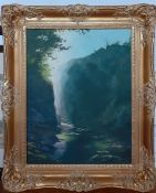 Howard Shingler (1953) English, 'Riverscape', signed and dated '74 lower right, oil on canvas,
