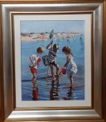 """Sherree Valentine Daines (b.1959) British, """"Fishing in the shallows"""", signed and numbered 12/20AP,"""