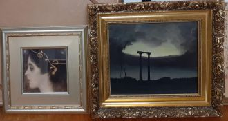 Juan Antonio Falcó (1947-) Spanish, 'Italian view', signed lower right, oil on canvas, framed (25.