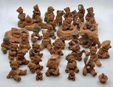 A selection of Margaret Ballard Teddy Bear figures