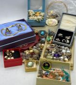 A large selection of costume jewellery and cuff links