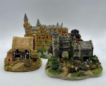 """Three cottages/castle models """"Delivering to the Gatehouse"""", """" Hohenzollern Castle"""" and """"Magpie"""