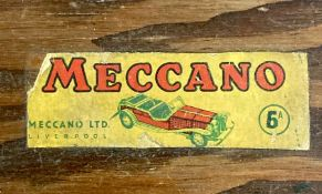 A Selection of Vintage Meccano, some in original wooden box.