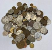 A Selection of worldwide coins, including Chinese