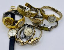 A small selection of Ladies wristwatches, various makers and styles.