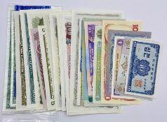 A selection of twenty five mint worldwide notes
