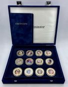 A Boxed Set of Queens Diamond Jubilee collector coins by Westminster mint in box with certificates.