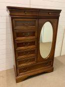 A small dressing cabinet or wardrobe by Lexington (H150cm W103cm D49cm)