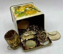 A small selection of costume jewellery