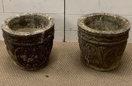Two garden planters (H28cm Dia 30cm)