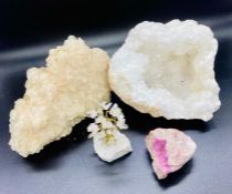 A selection of Geodes and crystals