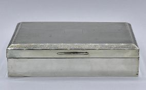 A Silver cigarette case, hallmarked for Birmingham 1920 by John Rose (total weight 413g)