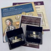 Collectors coins 1952-2012 Queens Jubilee Collection pack, King George III military Guinea