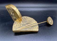A pair of Luciana Matalon brass sculptures 761/1000