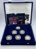 The Westminster Mint 2012 Olympics 50p coin collection, boxed with certificates