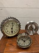 A selection of three small clocks