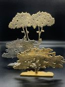 Two tree sculptures by L. Matalon 76/1000, 180/1000 and one by Russello 418/1000
