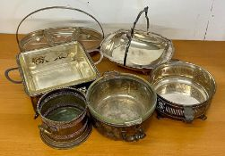 A small selection of silver plated items