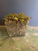 A sqaure reclaimed garden planter (H30cm W38cm)