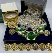 A selection of costume jewellery