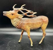 A Metal Figure of a Stag