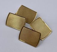 A pair of 9ct gold cuff links (4.7g)
