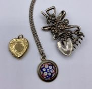 A small selection of silver jewellery