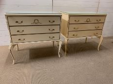 A pair of French chest of drawers (H80cm W80cm D47cm)