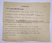 Two WWII Telegrams regarding the D Day landings.