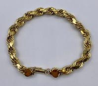 A yellow gold bracelet, marked 10k (Total Weight 12.8g)