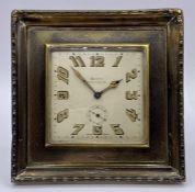 An Art Deco 'Walker & Hall' hallmarked silver Swiss desk clock, having eight day movement and