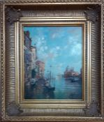 A 20th century Italian school, 'Venice canal with Santa Maria della Salute', signed: 'Pellegrini',