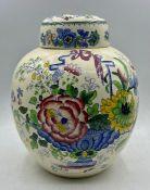 A ceramic ginger jar made by Masons China