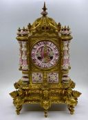 A French porcelain and gilt Eight Day clock