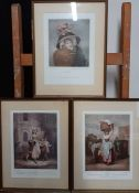 """A group of three Francis Wheatley's """"Cries of London"""" prints, (28x20 cm). (3)"""