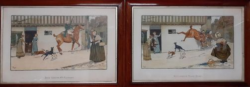 """A pair of prints after Cecil Aldin (1870-1935), """"Good Morning Mrs Flanagan"""" and """"Good Morning Squire"""