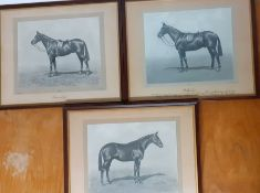 """Three photographic prints by W.W.Rough & Co, """"Waterloo"""", """"Gresselly"""" and """"Lenegand"""", framed and"""