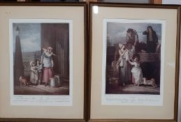 """A pair of Francis Wheatley's """"Cries of London"""" prints, (28x20 cm). (2)"""