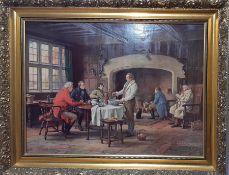 'The Landlords Brew', a hand embellished canvas print after Margaret Dovaston.