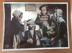 A very special engraving depicting Florence Nightingale tending the wounded in the Crimea war, (22.